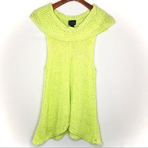 Pure handknit green tunic/ s